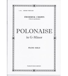 F. CHOPIN Polonez G-Minor nuty
